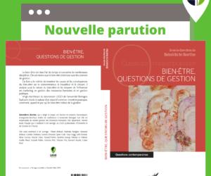 Nouvel ouvrage collectif : « BIEN-ÊTRE, QUESTIONS DE GESTION »